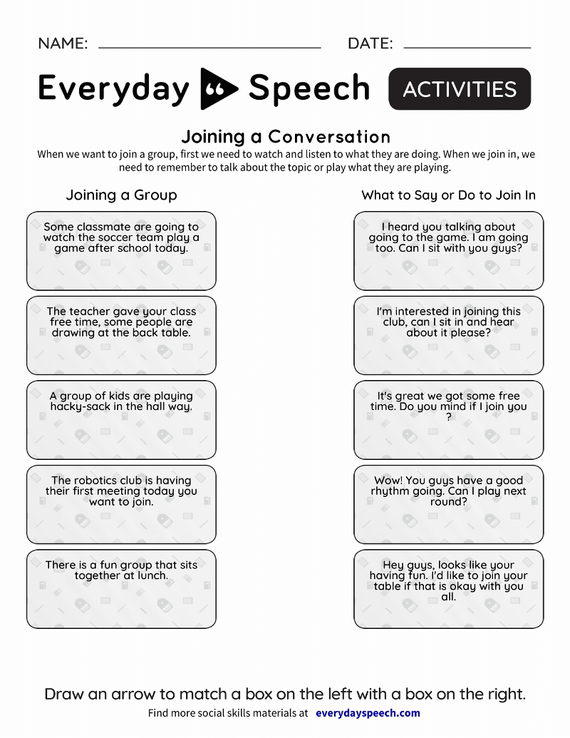 Social Skills Videos | Everyday Speech - Everyday Speech with regard to Social Skills Fill In The Blank