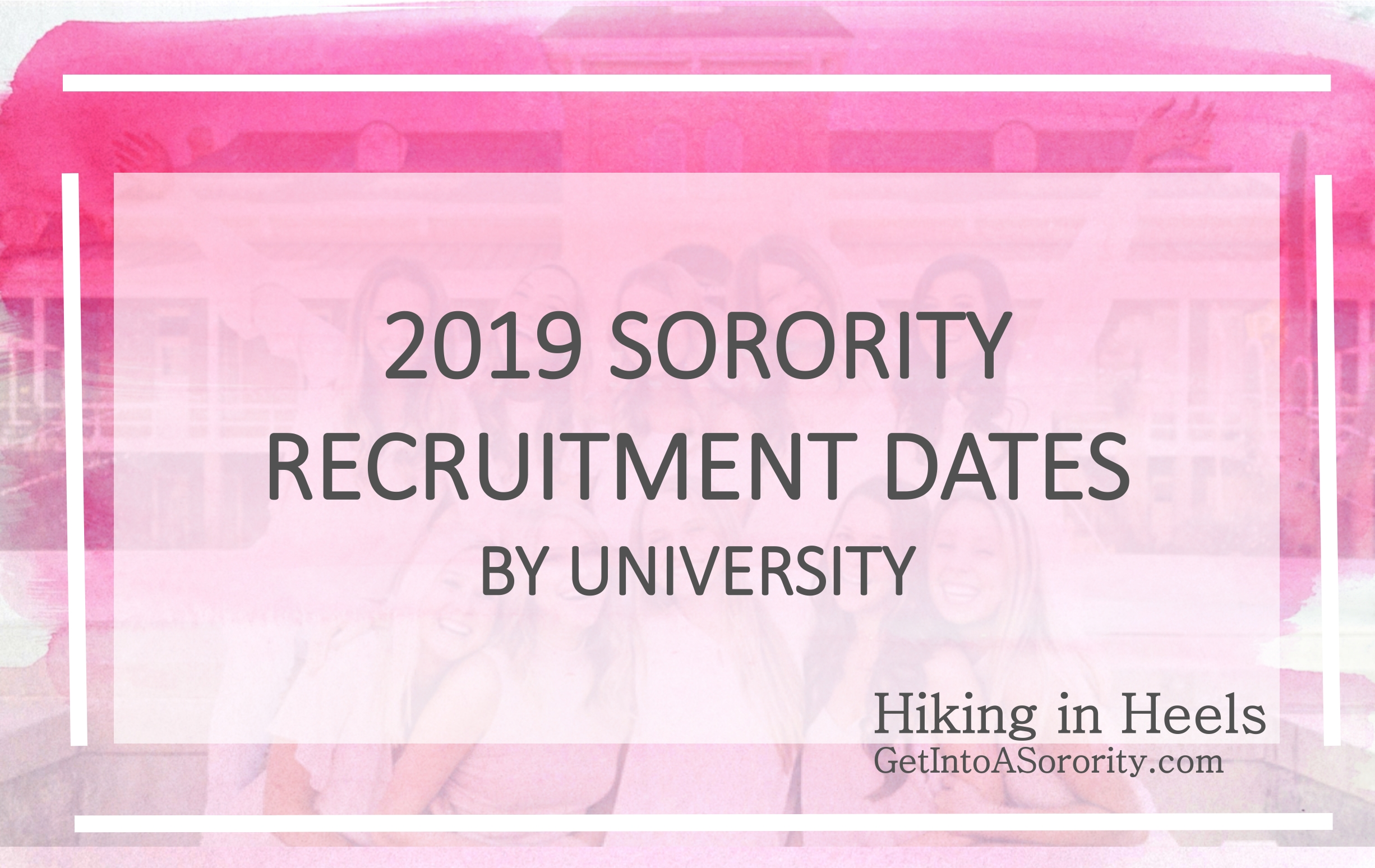 Sorority Recruitment Schedules: Spring 2019 And Fall 2019 Edition in 2019-2020 Uga Academic Calendar