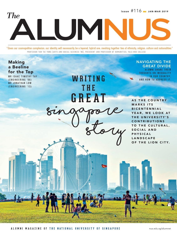 The Alumnus Jan - Mar 2019 with Acdemic Calender Nus 2020