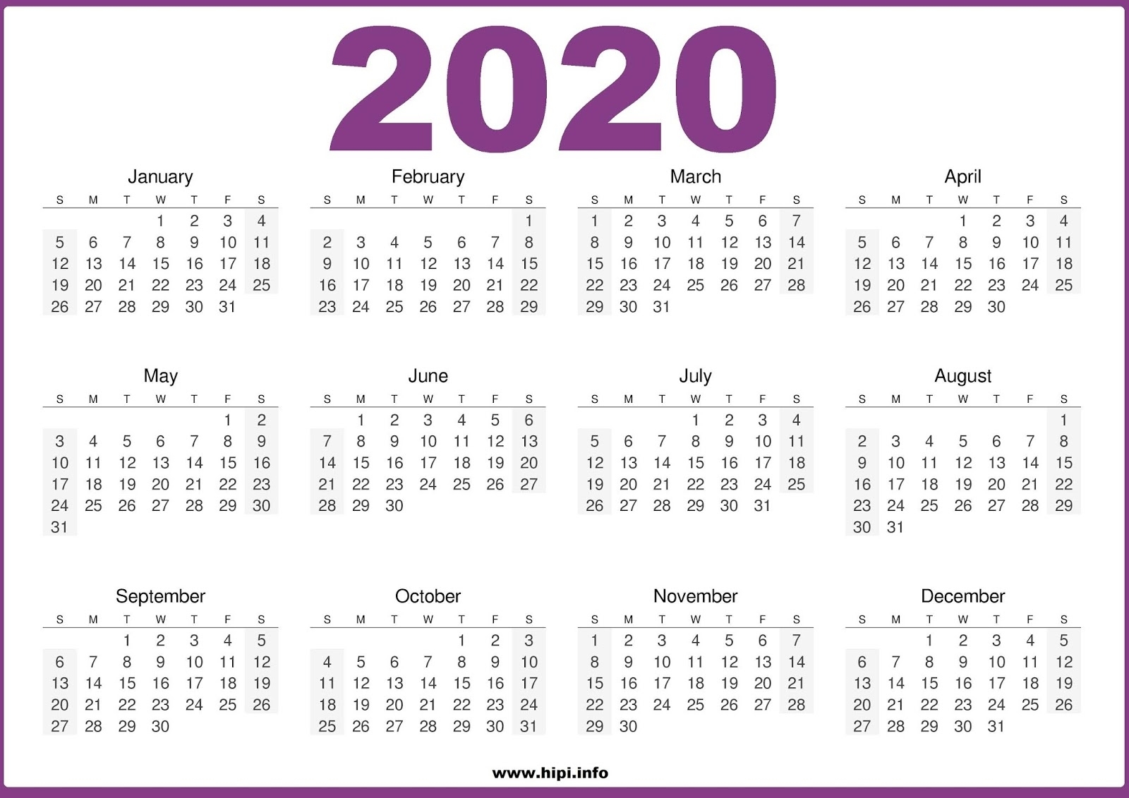 Twitter Headers / Facebook Covers / Wallpapers / Calendars: 2020 inside 2019 And 2020 Calendar One Page