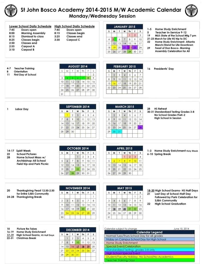 Uga Academic Calendar 2014 2015 St John Bosco Academy 788×1024 with Uga Academic Calendar 2019 2020