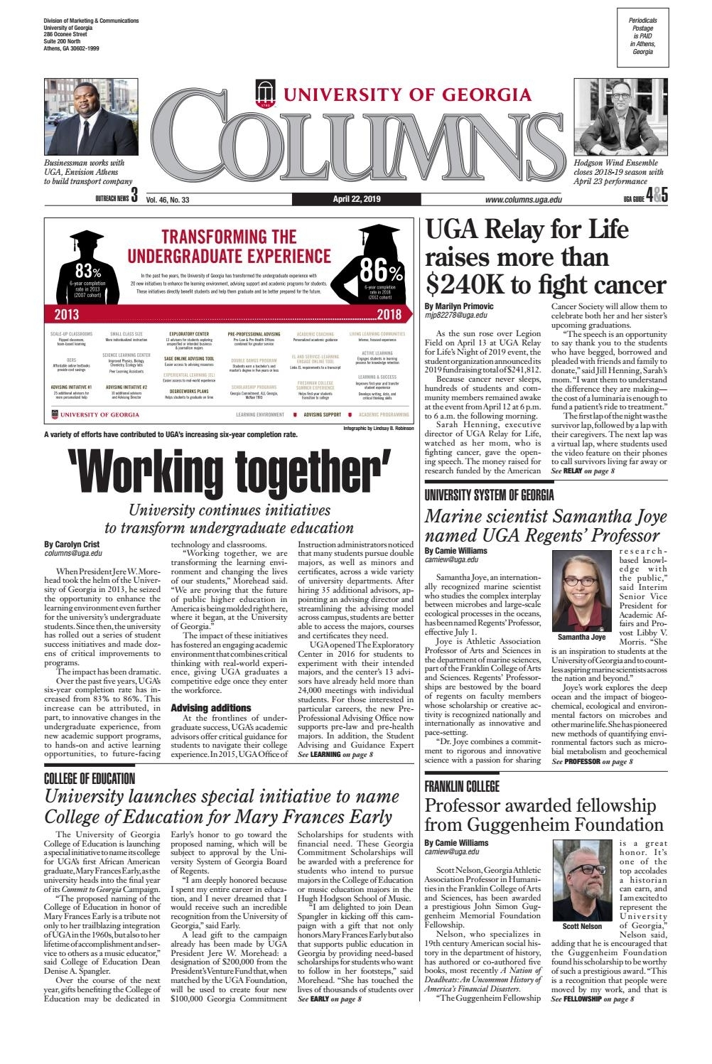 Uga Columns April 22, 2019Uga Columns - Issuu regarding 2019-2020 Uga Academic Calendar