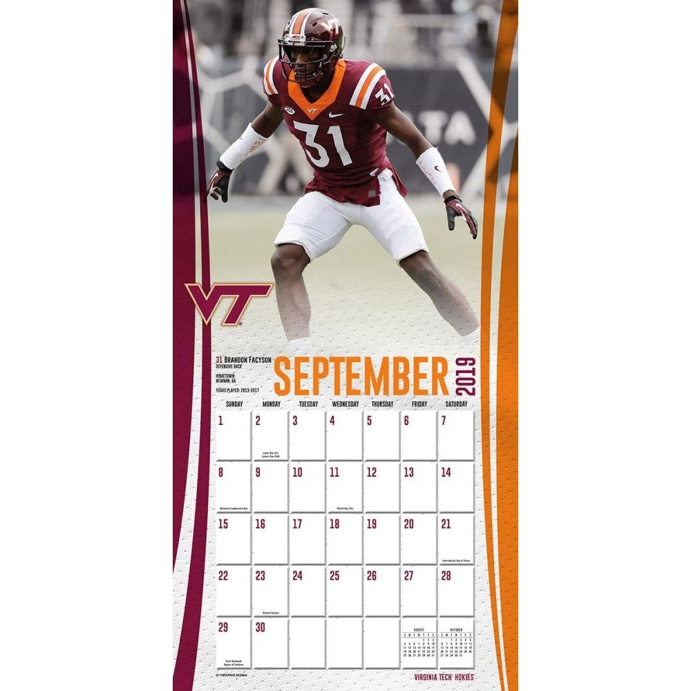 Virginia Tech Hokies 2020 Wall Calendar | | Calendars regarding Virginia Tech Academic Calendar 2019 2020