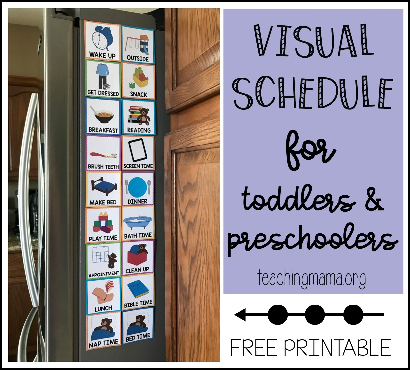 Visual Schedule For Toddlers in Free Printable Picture Schedules For Children