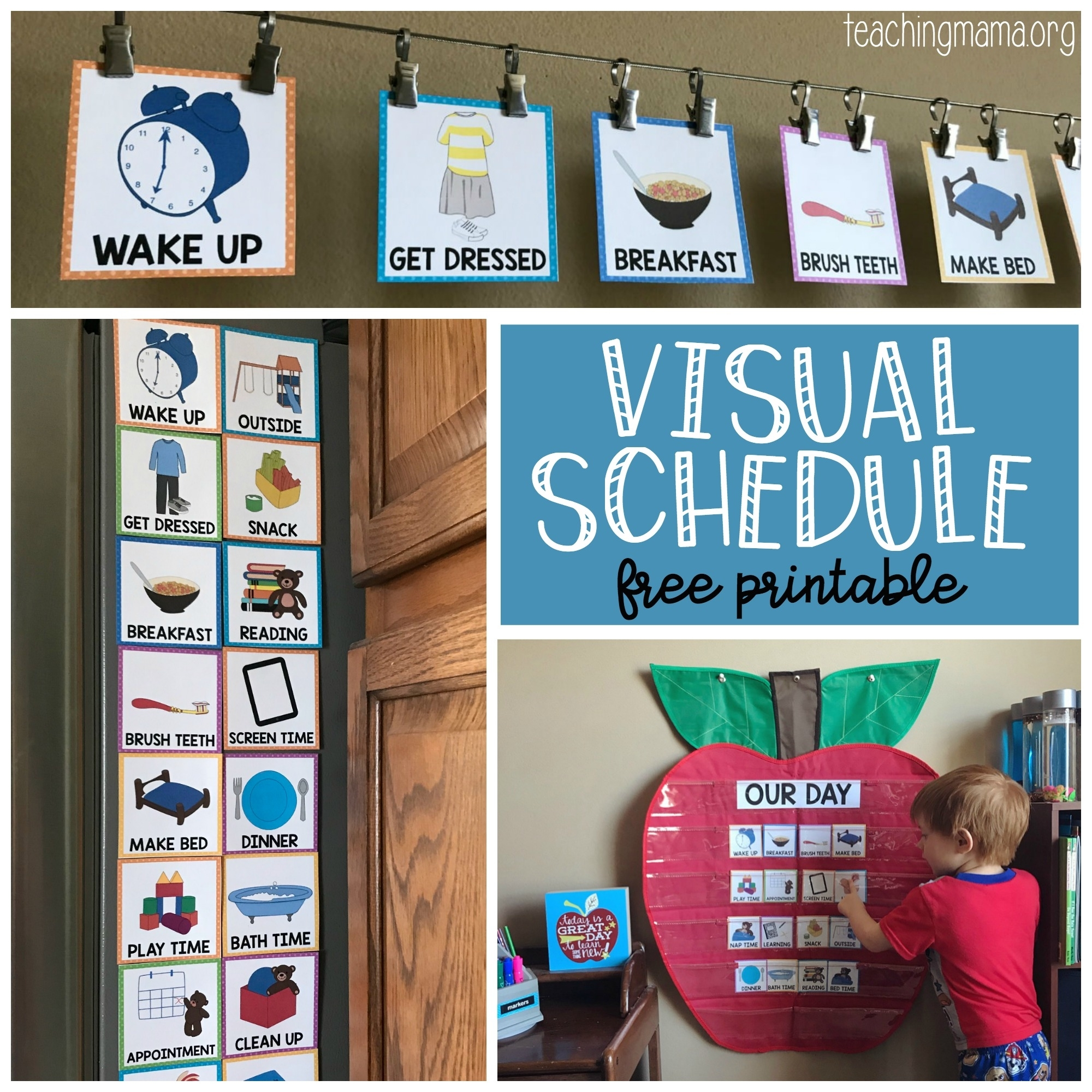 Visual Schedule For Toddlers throughout Free Printable Picture Schedules For Children