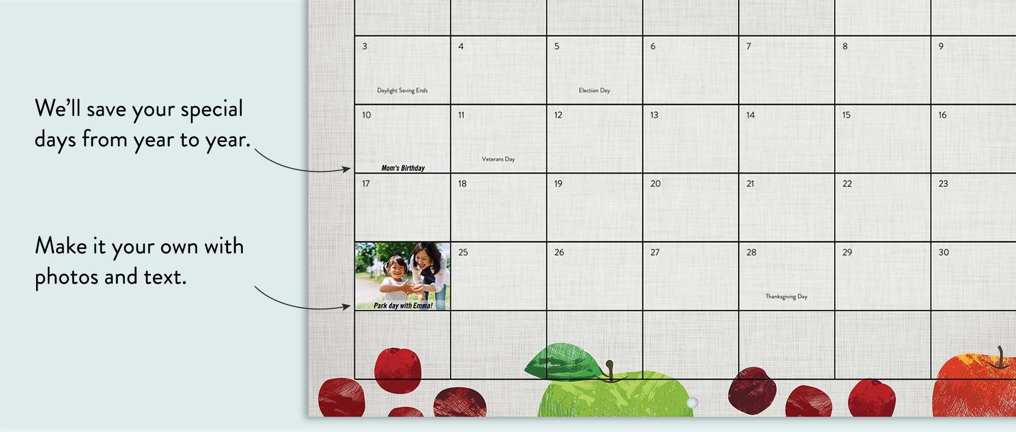 Wall Calendar, 12X12, 12 Months | Calendars | Calendar | Snapfish Us regarding 12 X 12 Wall Calendar Holder