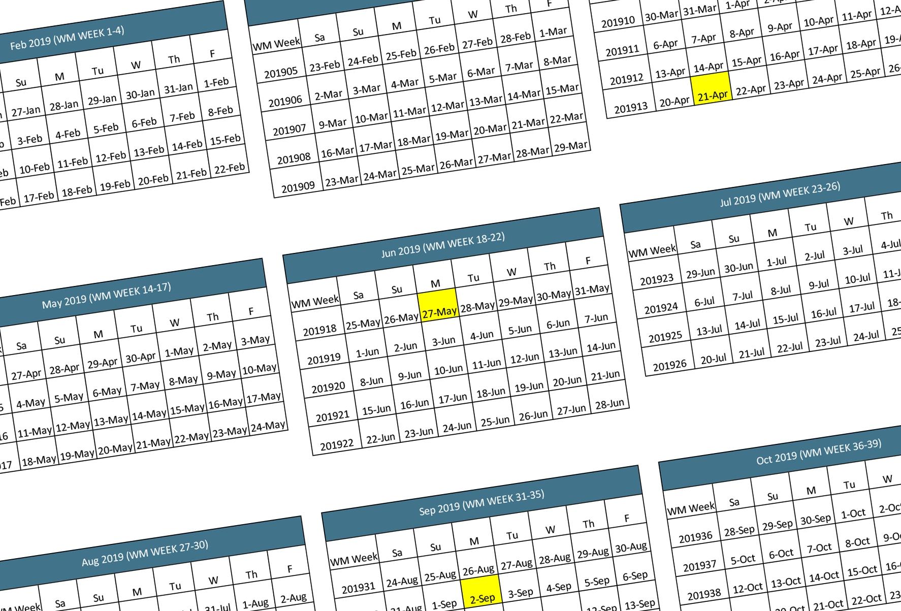Walmart 2019-2020 Fiscal Calendar   Walmart Supplier News And Resources regarding 4-4-5 Calendar 2020