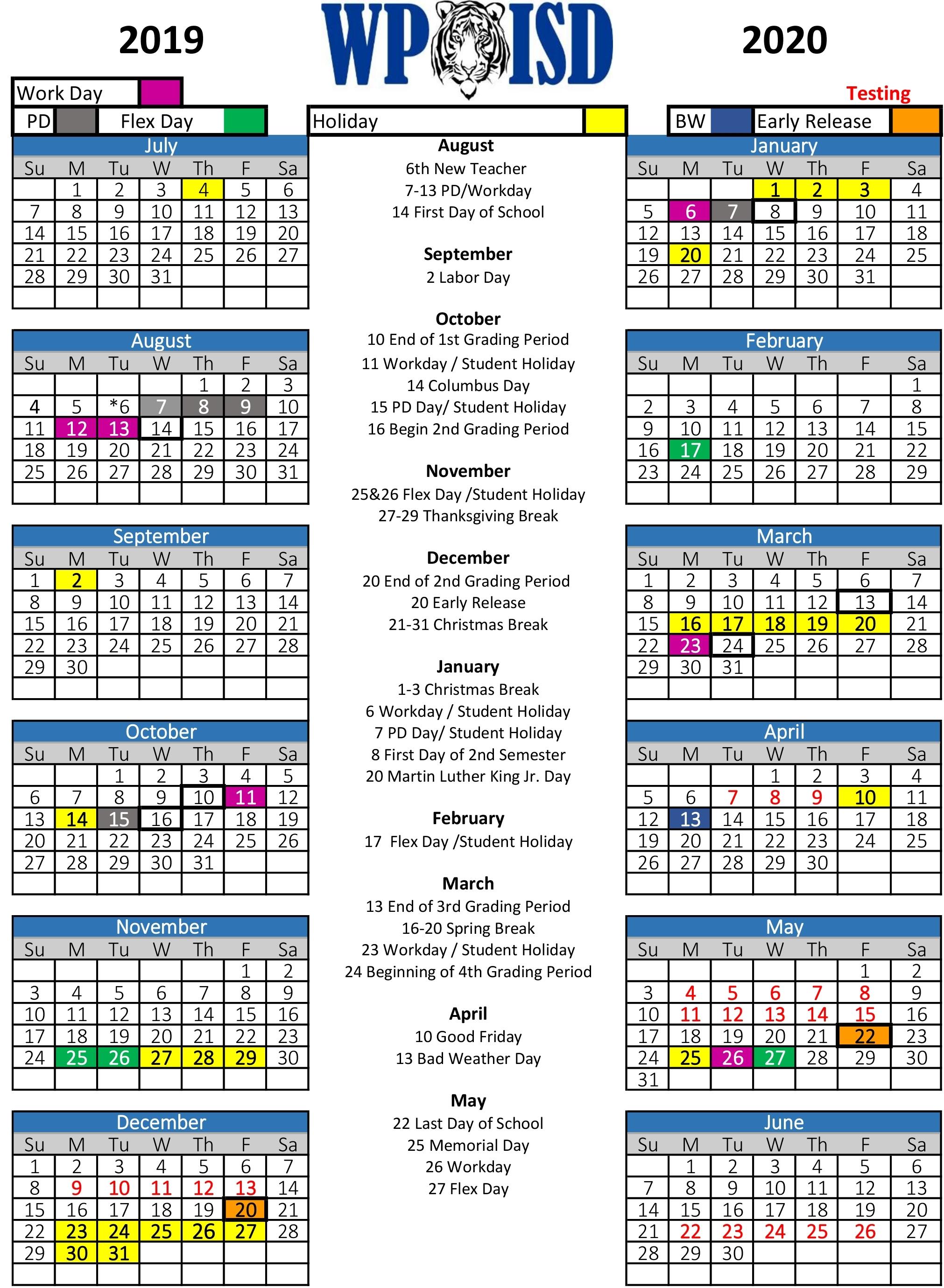 Wills Point Isd / Homepage for U Of M Calendar 2019-2020 School Year
