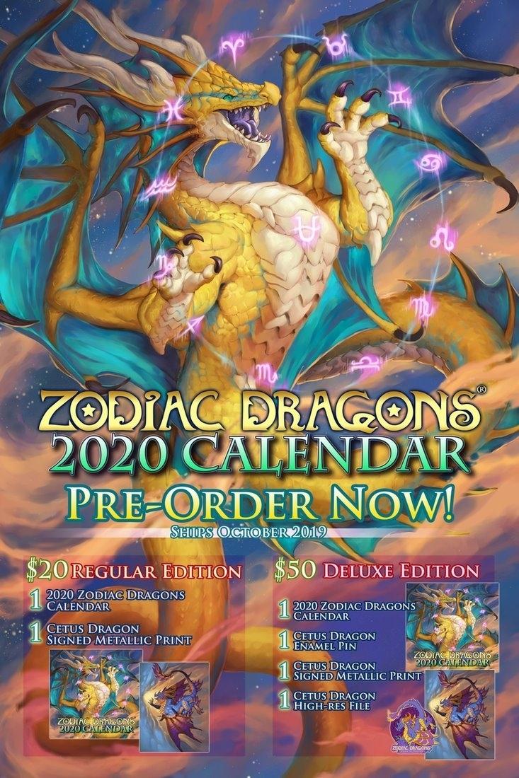 """Zodiac Dragons® Calendar ✨🐉✨ On Twitter: """"🎉2020 Zodiac Dragons with regard to Calendar 2020  Zodiac"""