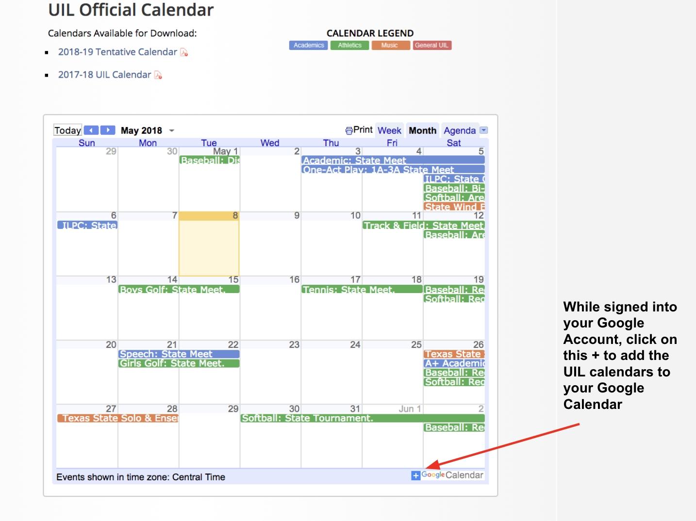 A Teacher's Guide To Google Calendar • Technotes Blog in 2020 Uil Calendar