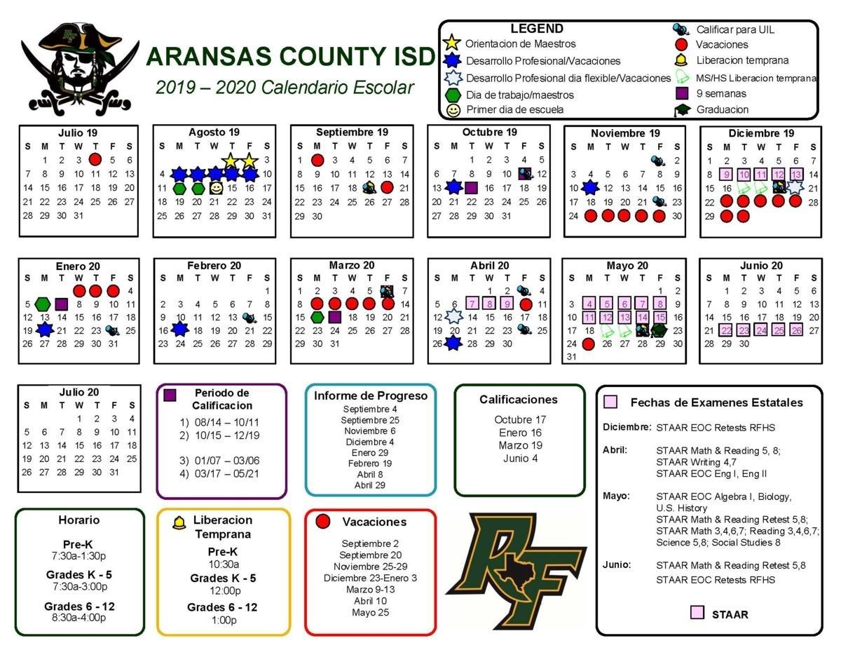 Aransas County Isd - Official Website regarding 2020 Uil Calendar
