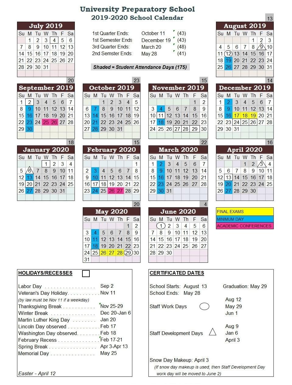 Lake County Florida School Calendar 2020-20 | Calendar intended for U Of M 2019 2020 Calendar