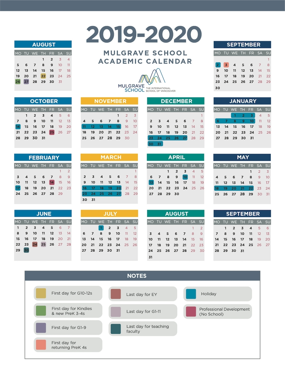 Mulgrave School - Calendars within U Of M 2019 2020 Calendar