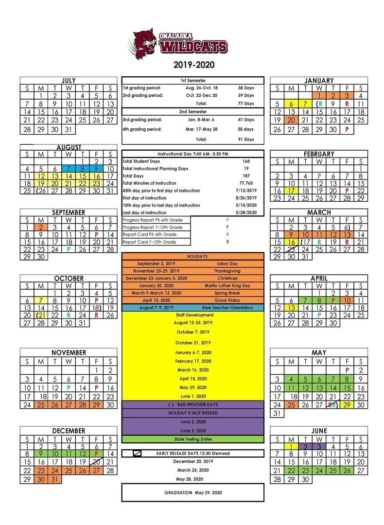 Onalaska Isd - Updated School Calendar! inside 2020 Uil Calendar