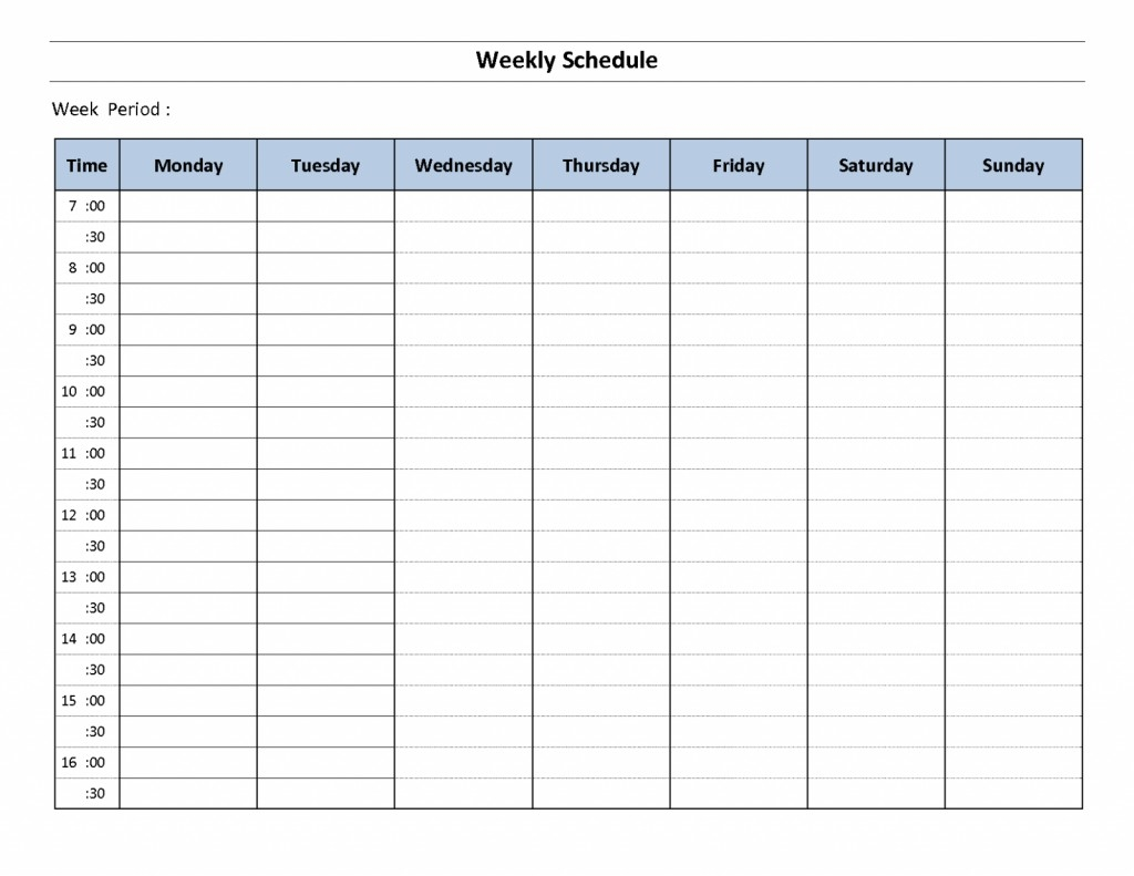 016 Weekly Hourly Schedulete Word Ideas Calendar With Time throughout Time Slot Template Schedule Excel