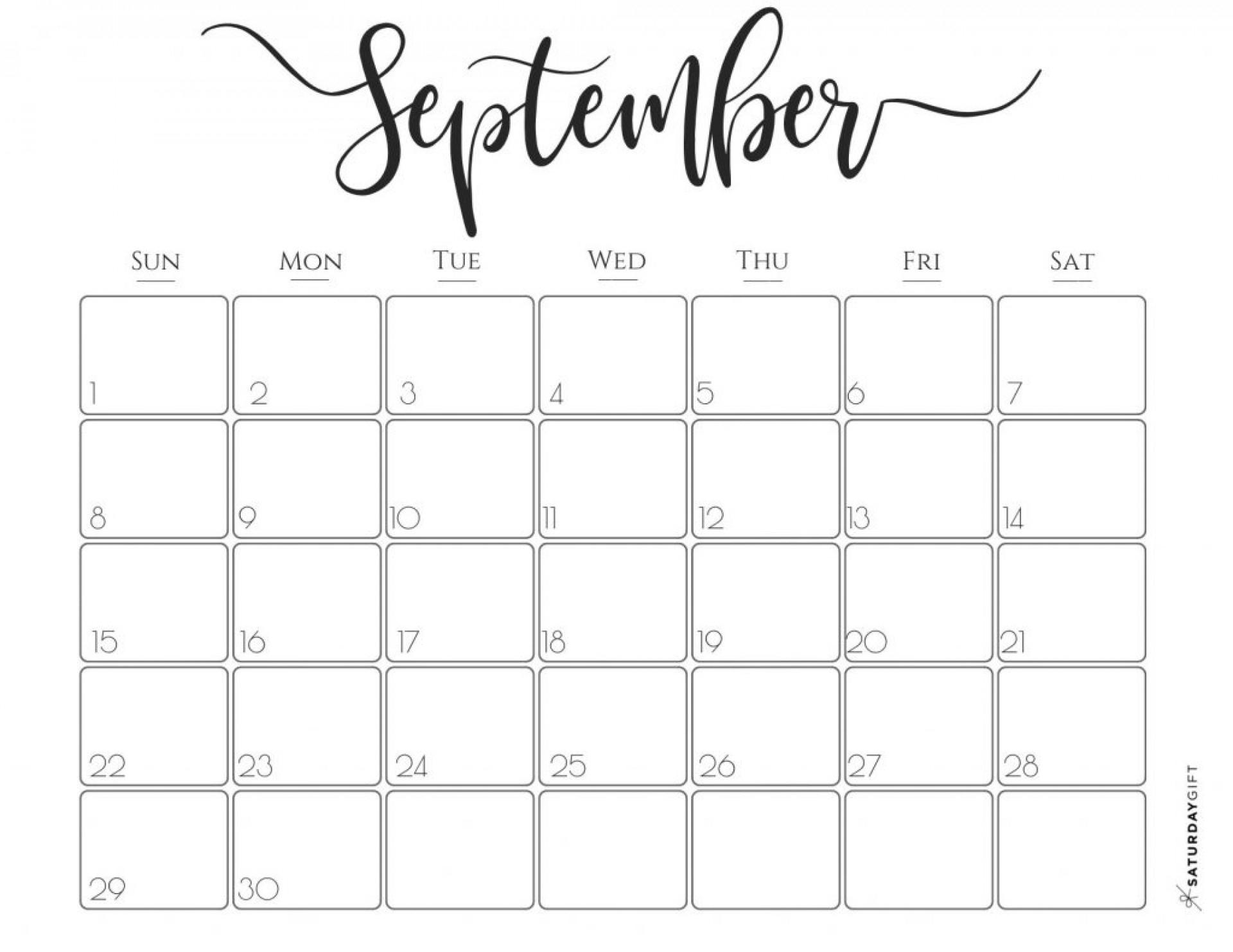 023 Template Ideas Printable Fill In Calendar September regarding Printable Fill In Calendar 2019
