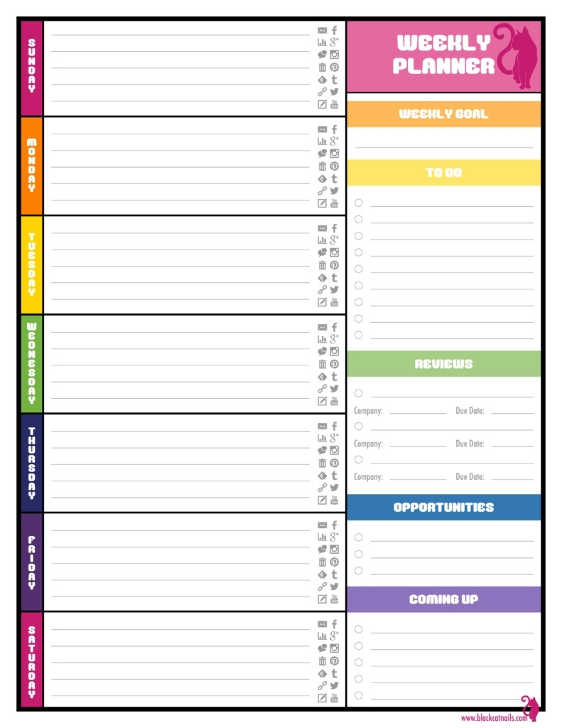 039 Planners With Hourly Layout Weekly Planner Template Word with regard to Weekly Planner With Time Slots Word Template