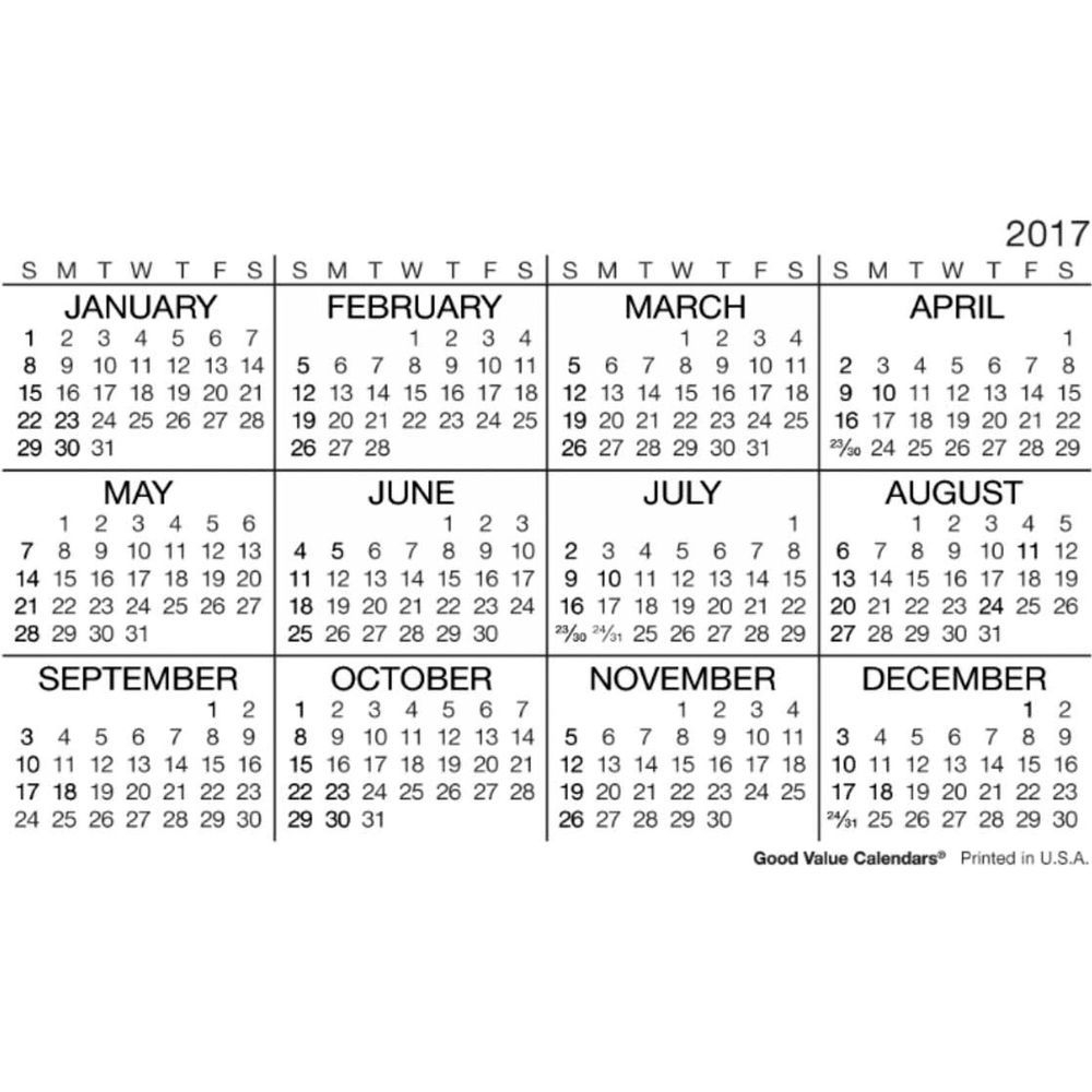 2017 Wallet Calendar | Templates Free Printable with regard to Template For Pocket Sized Calendar