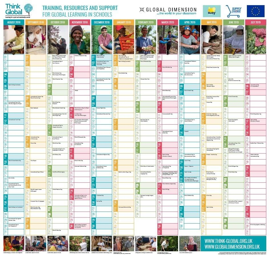 2018-19 Global Wallplanner Is Launched! - News - Global pertaining to Pshe Special Days Calendar 2019/2020