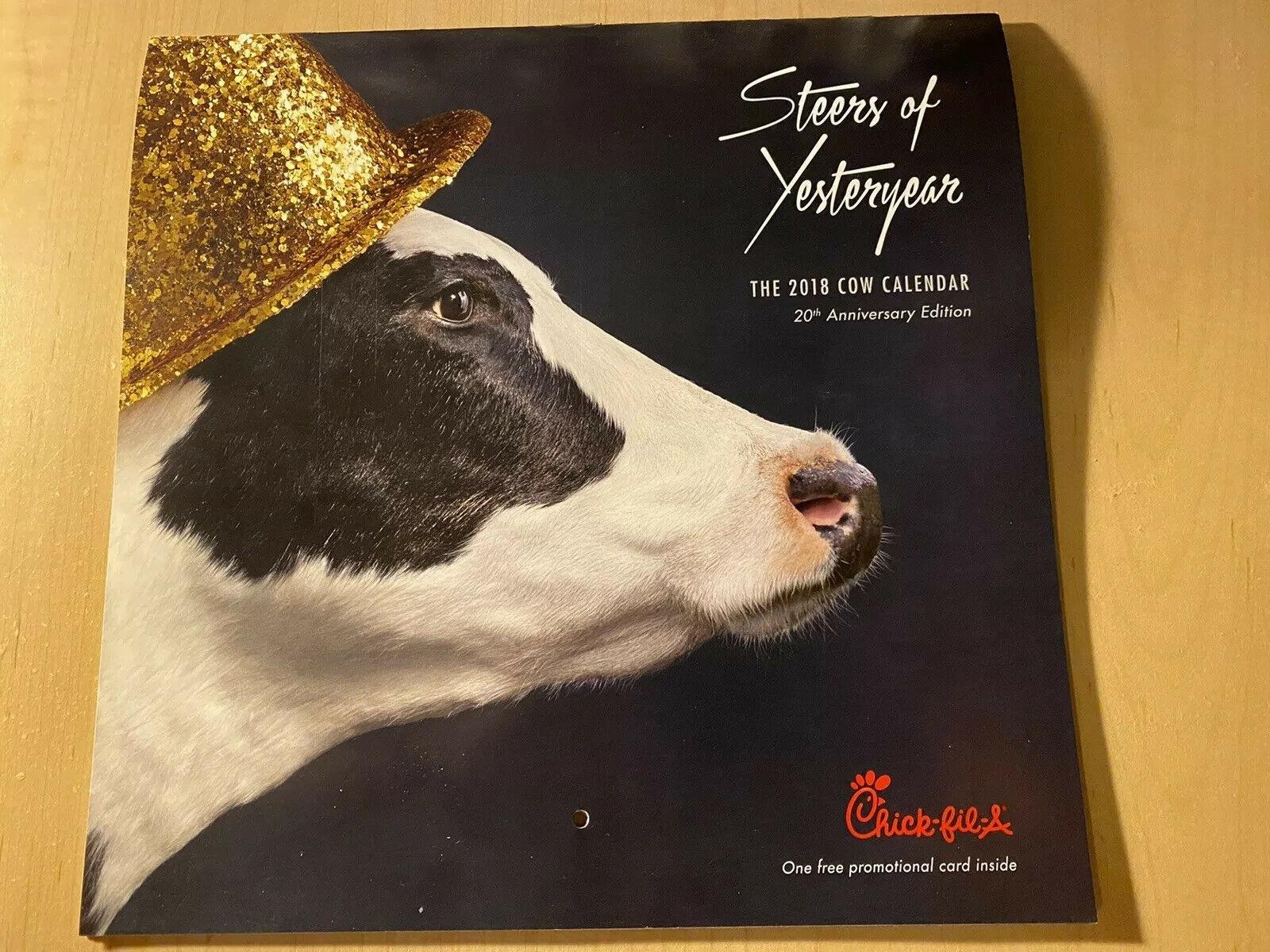 2018 Chick-Fil-A Cow Calendar Card regarding Cow Calendar Chick Fil A