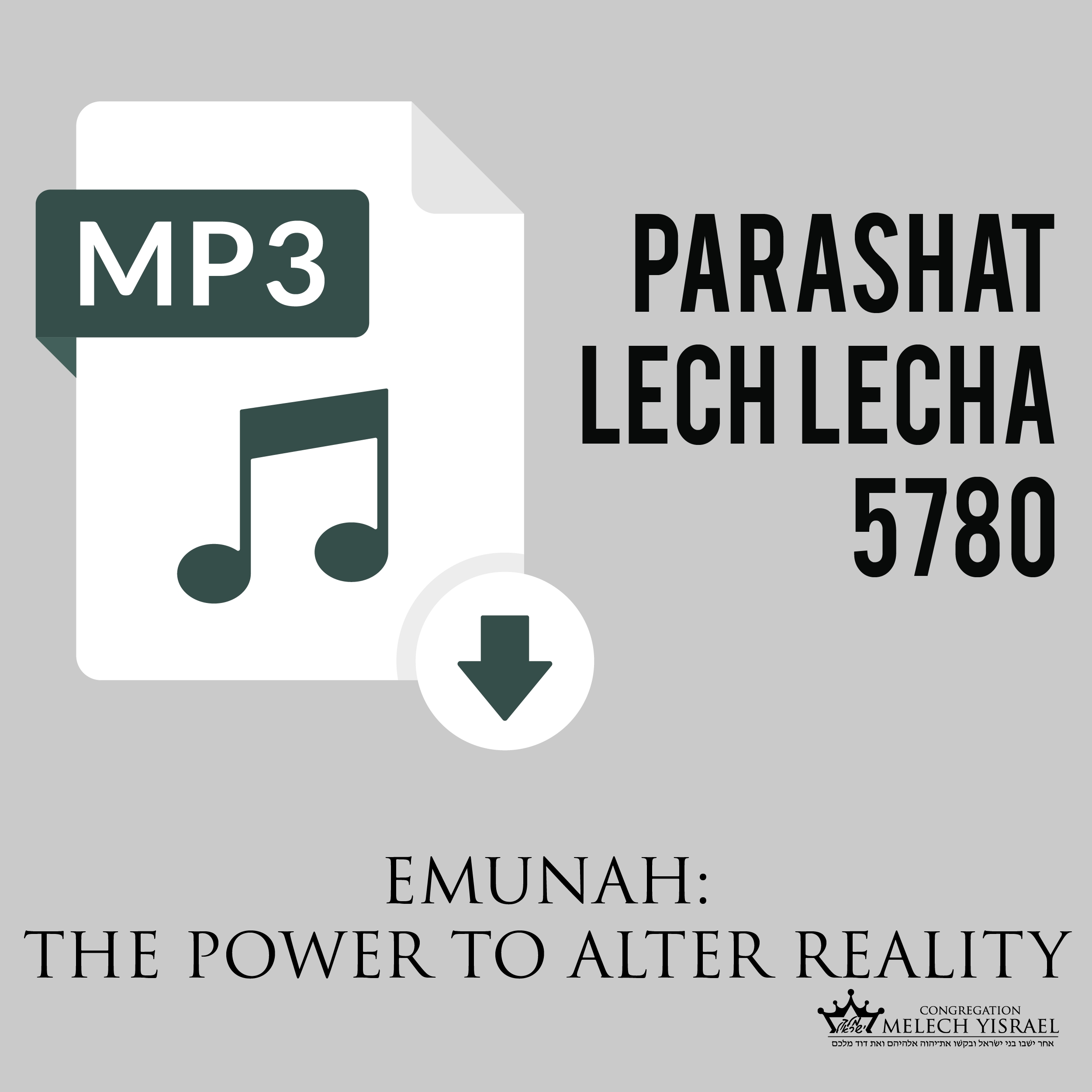 2019-11-09 Lech Lecha 5780 in This Week's Torah Portion 2019