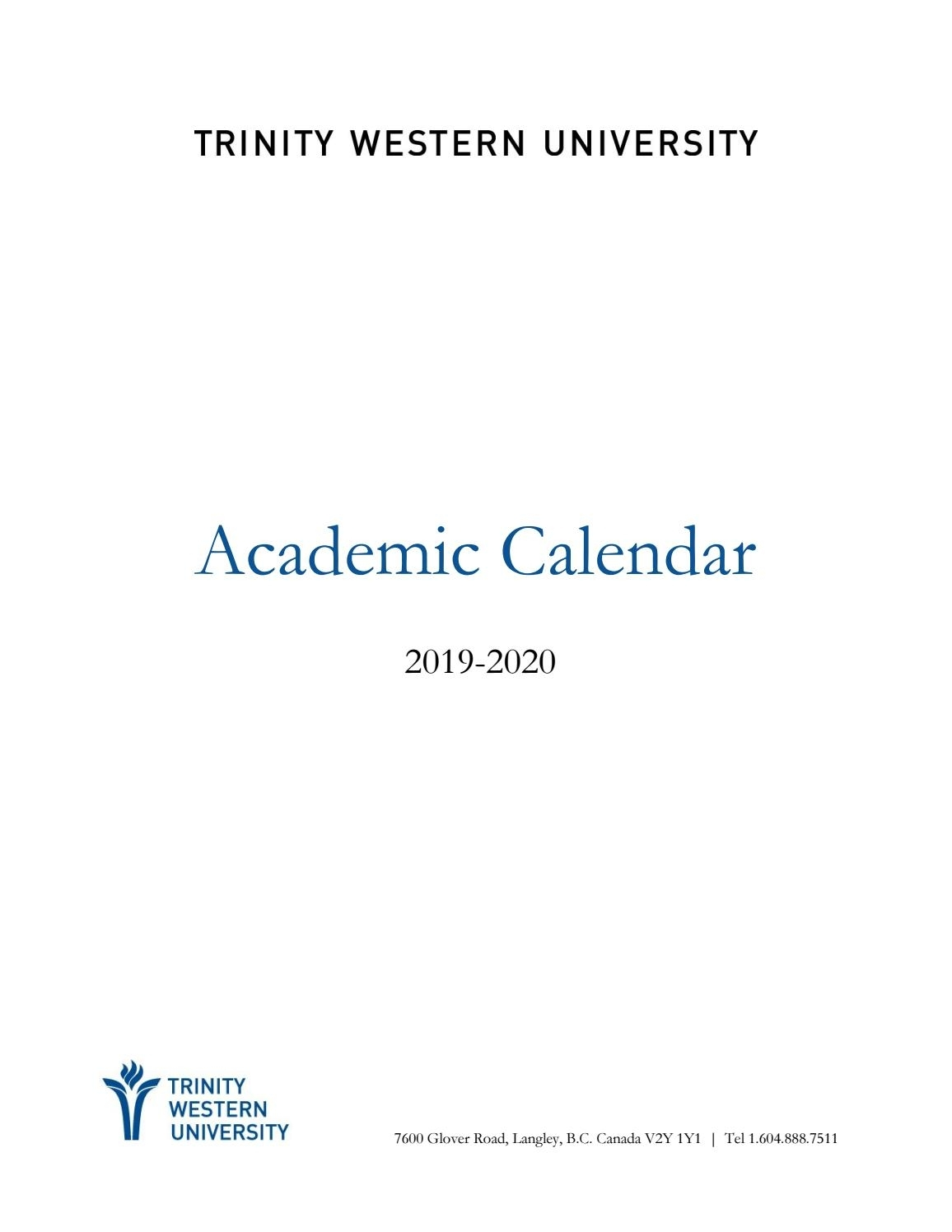 2019-20 Academic Calendartwu - Issuu in Catholic Extension Calendar 2020 Pdf