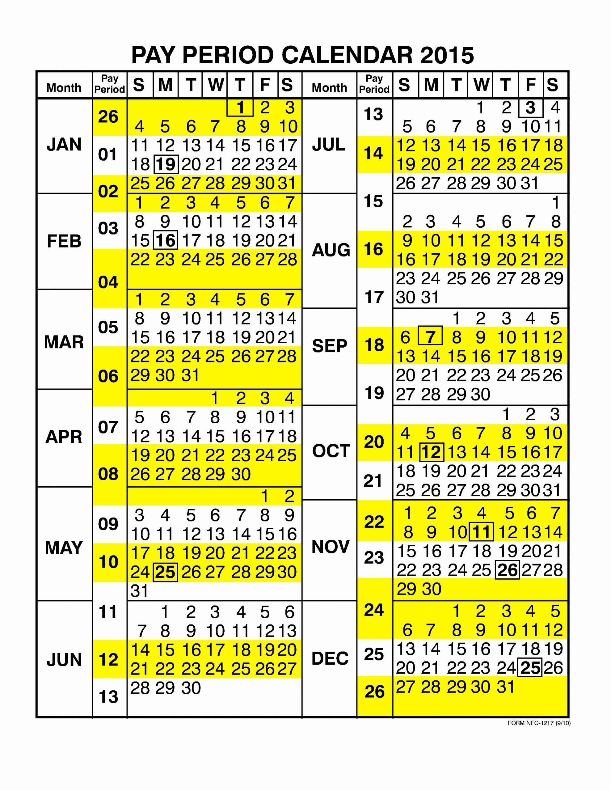 2019 Biweekly Payroll Calendar Template Federal Wednesday within Federal Government Pay Period Calendar 2020