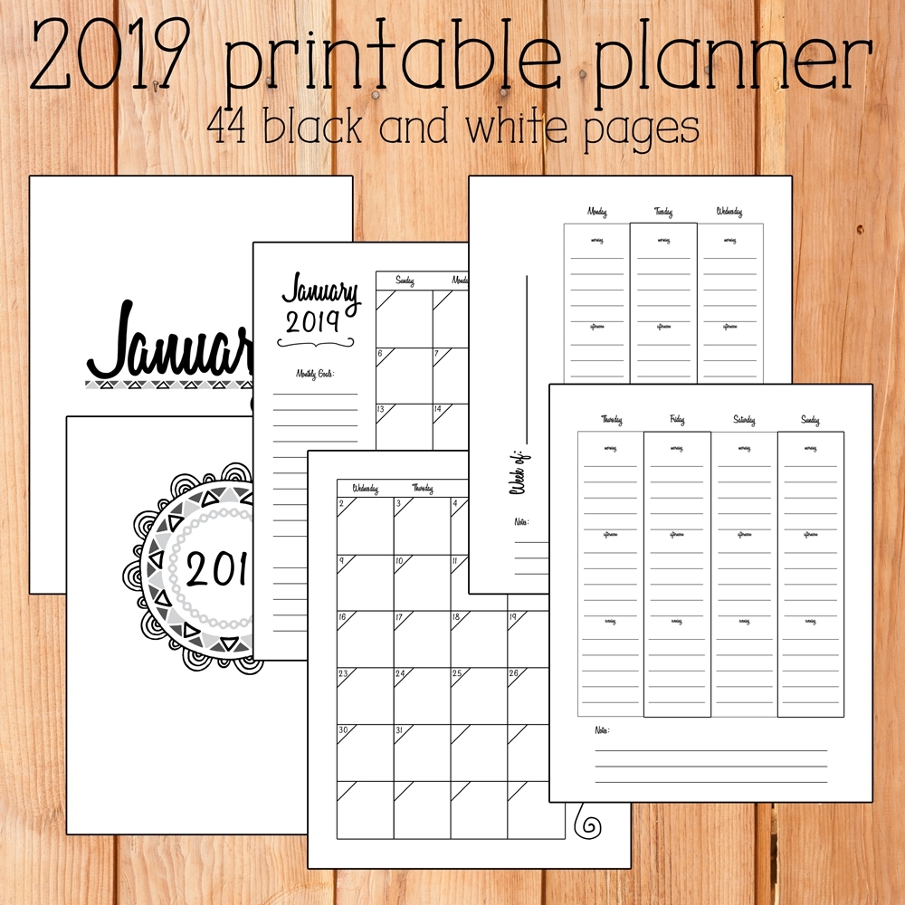 2019 Free Printable Calendars - Lolly Jane regarding Free Foldable Pocket Size Calendar Template