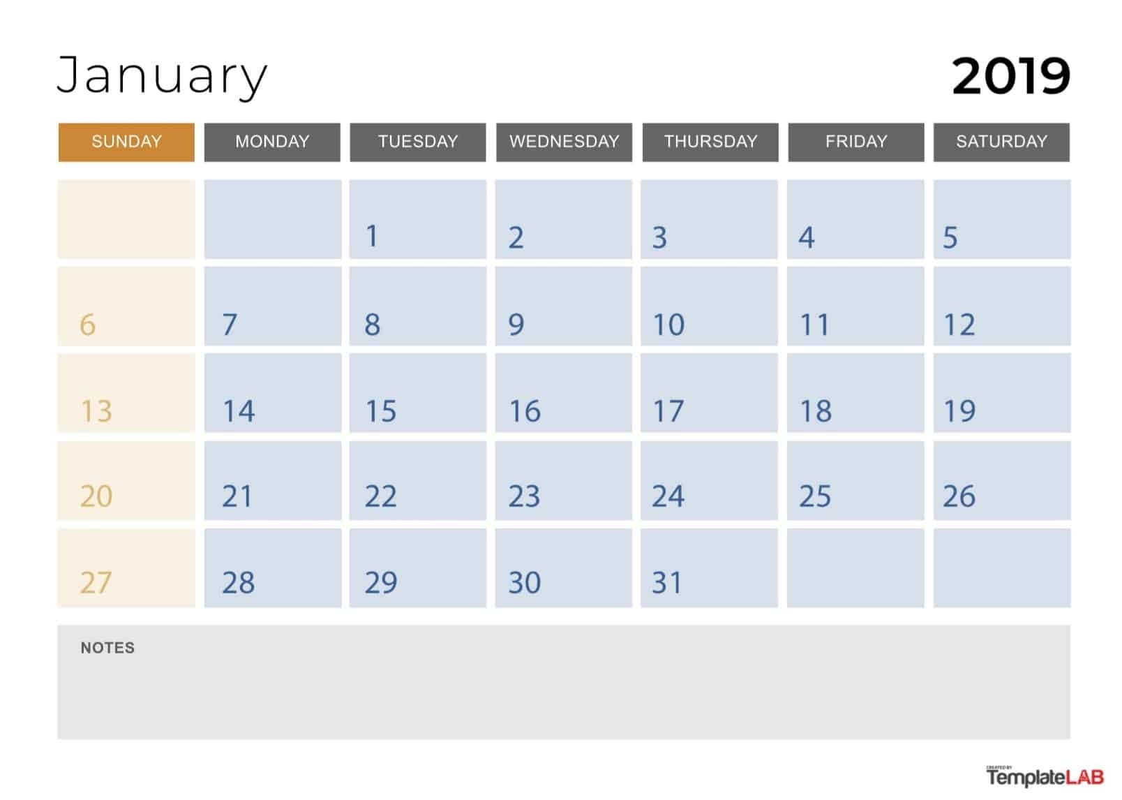 2019 Printable Calendars [Monthly, With Holidays, Yearly] ᐅ inside Printable Calendar 2019 With Lines