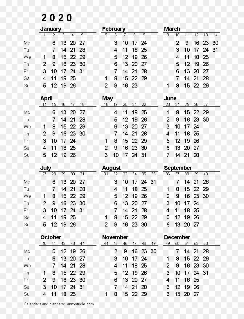 2020 Calendar Png Download Image - 2020 Calendar With Week with regard to 2020 Calendar With Week Numbers Printable