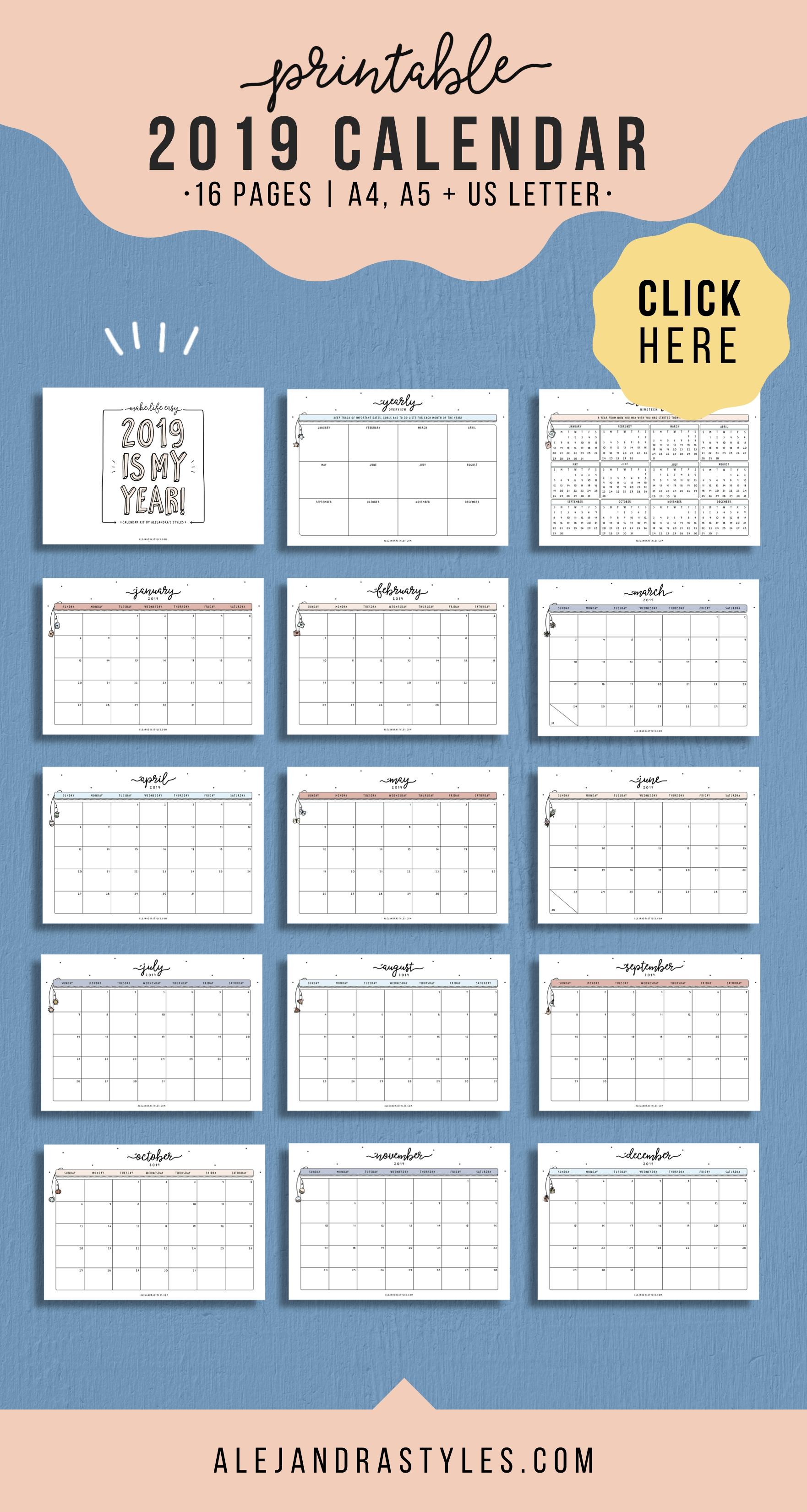 2020 Calendar Printable Planner Inserts With Monday And within Bc Free 2020 At A Glance Calendar
