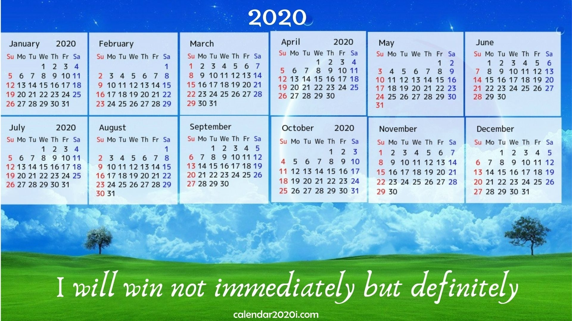 2020 Calendar With Inspirational Quotes, Sayings | Calendar 2020 with regard to Free Printable 2020 Canadian Calendar Motivational
