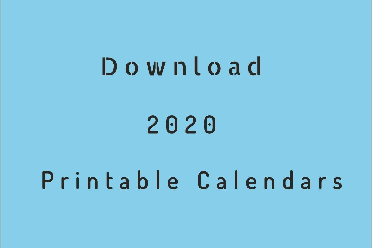 2020 Printable Calendar - Download Free Blank Templates - pertaining to Downloadable 2020 Monthly Calendar Template Word