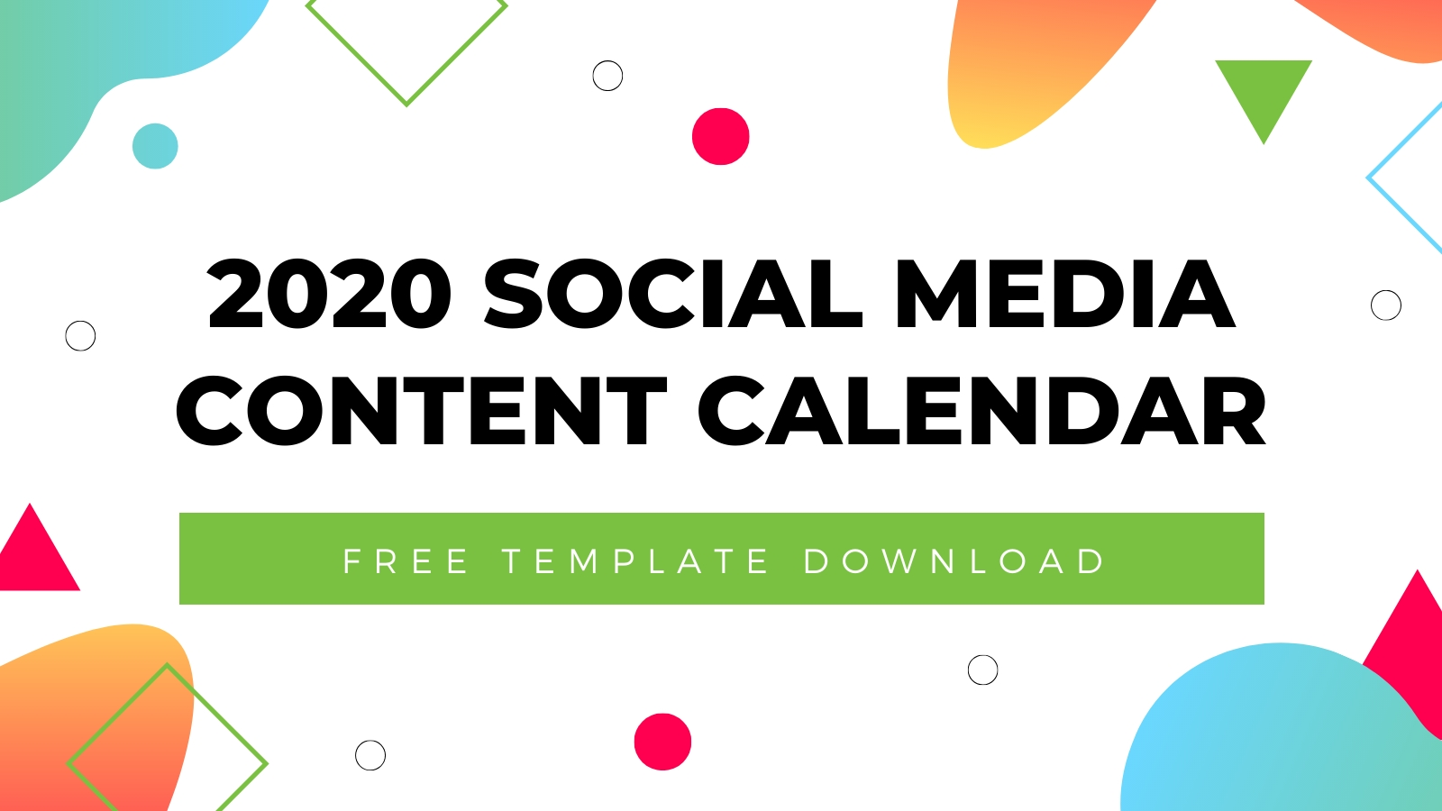 2020 Social Media Content Calendar Template | Free Download with regard to Special Days In The Business Calendar 2020