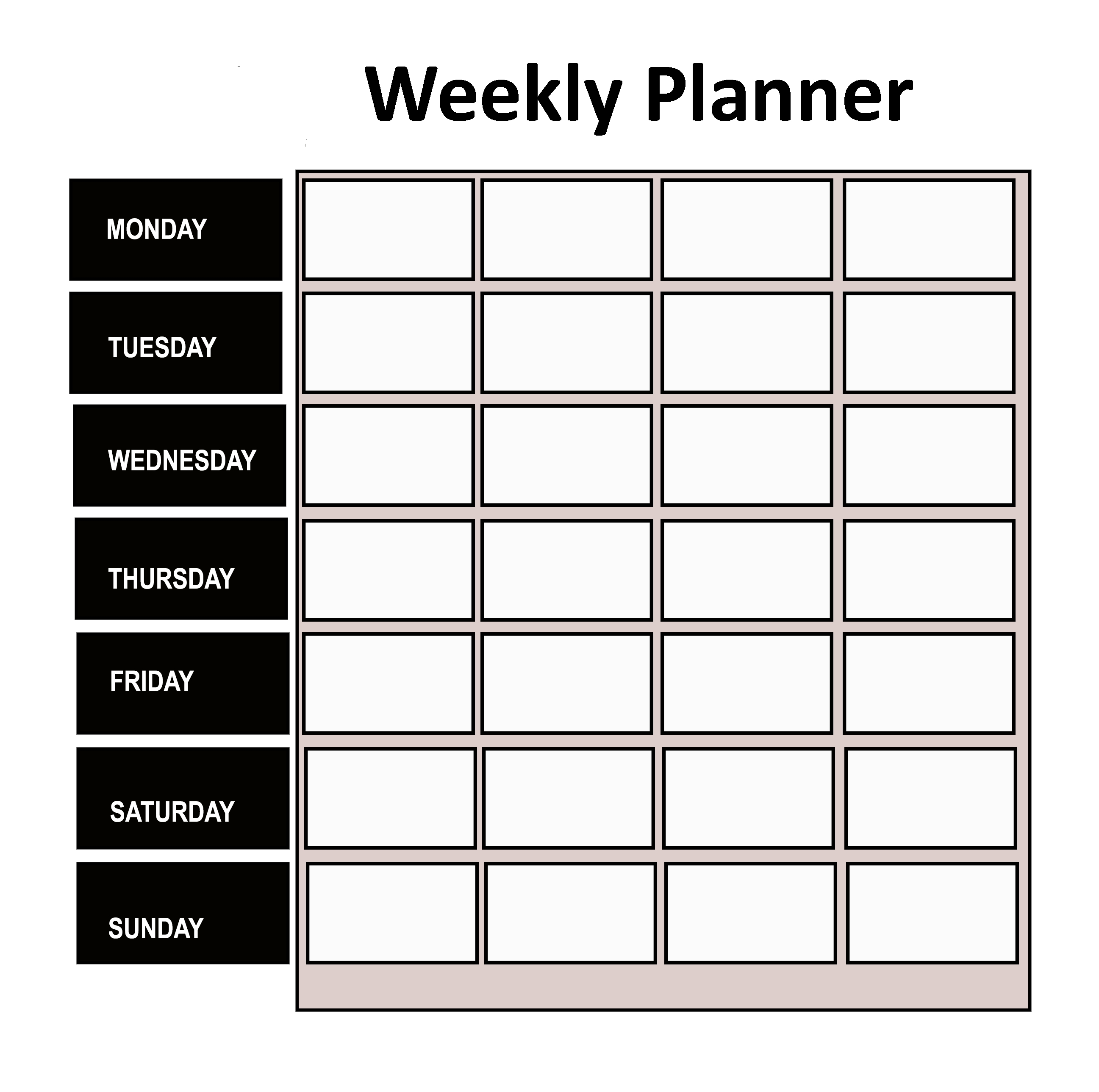 6+ Free Weekly Planner Templates [Pdf, Word, Excel] in Pdf Free Monday - Friday Weekly Planner