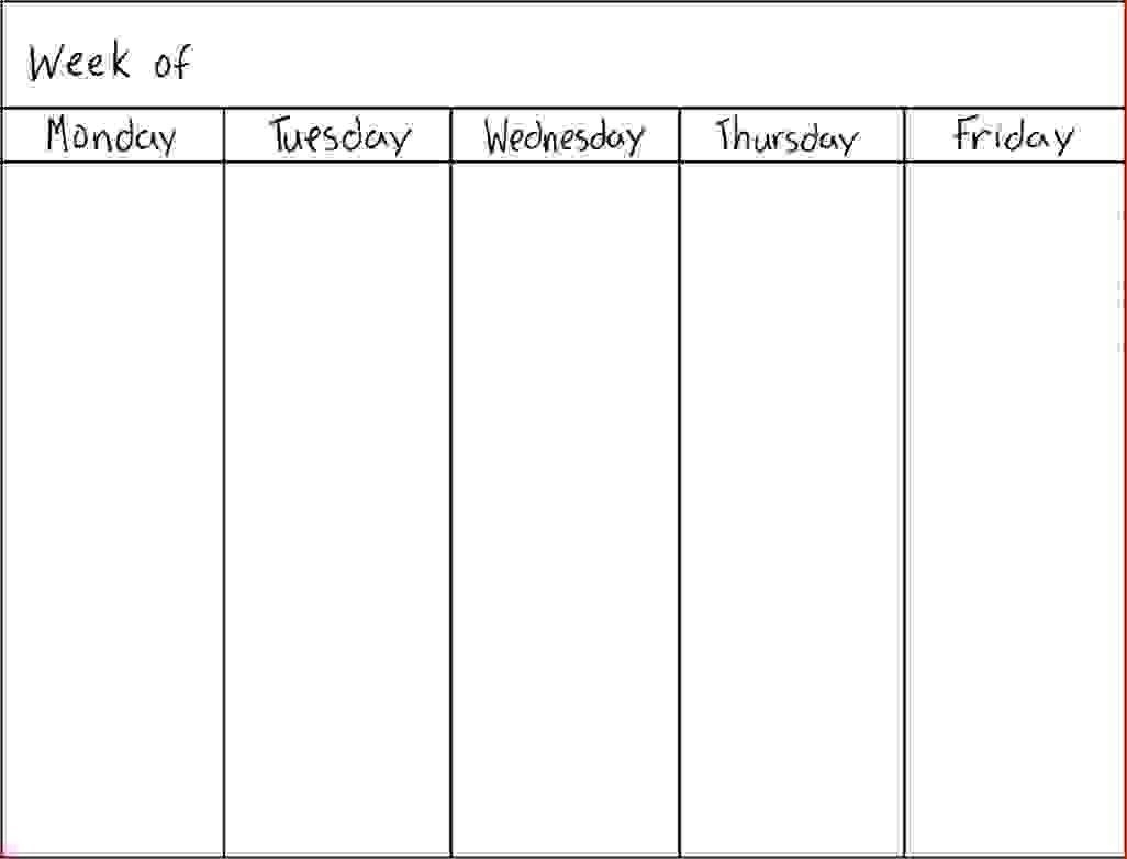 7 Day Weekly Schedule Template - Colona.rsd7 with regard to 7 Day Week Schedule Calendar Pdf