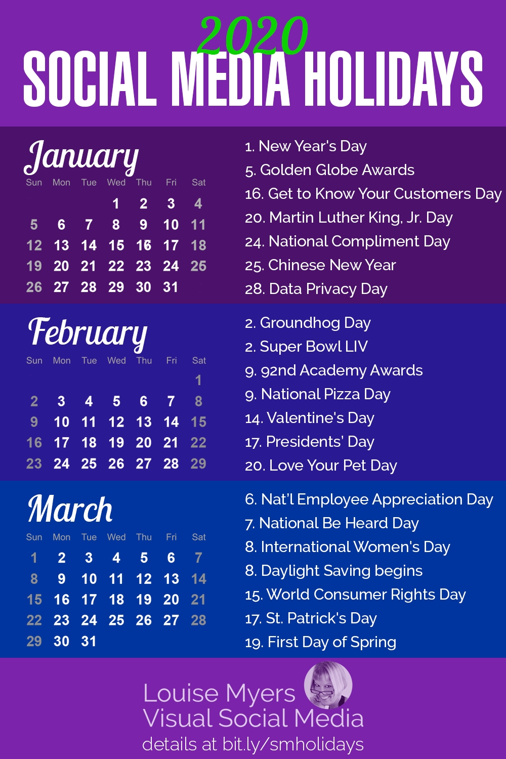 84 Social Media Holidays You Need In 2020: Indispensable! for National Day Calendar 2020 Printable List