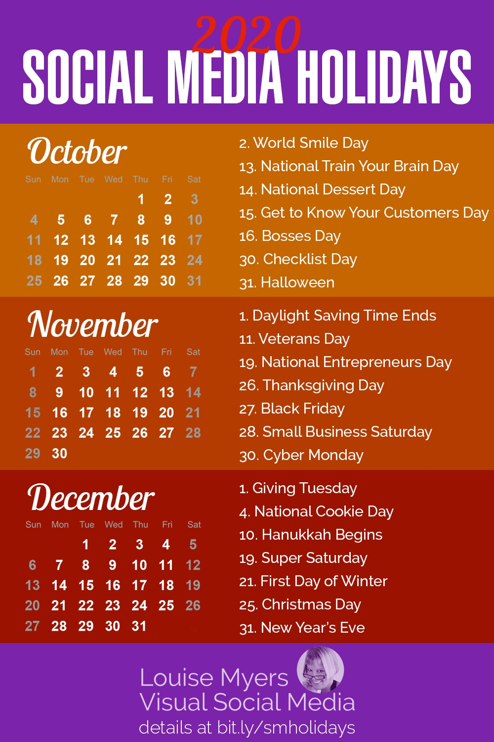 84 Social Media Holidays You Need In 2020: Indispensable! pertaining to National Day Calendar 2020 Printable List