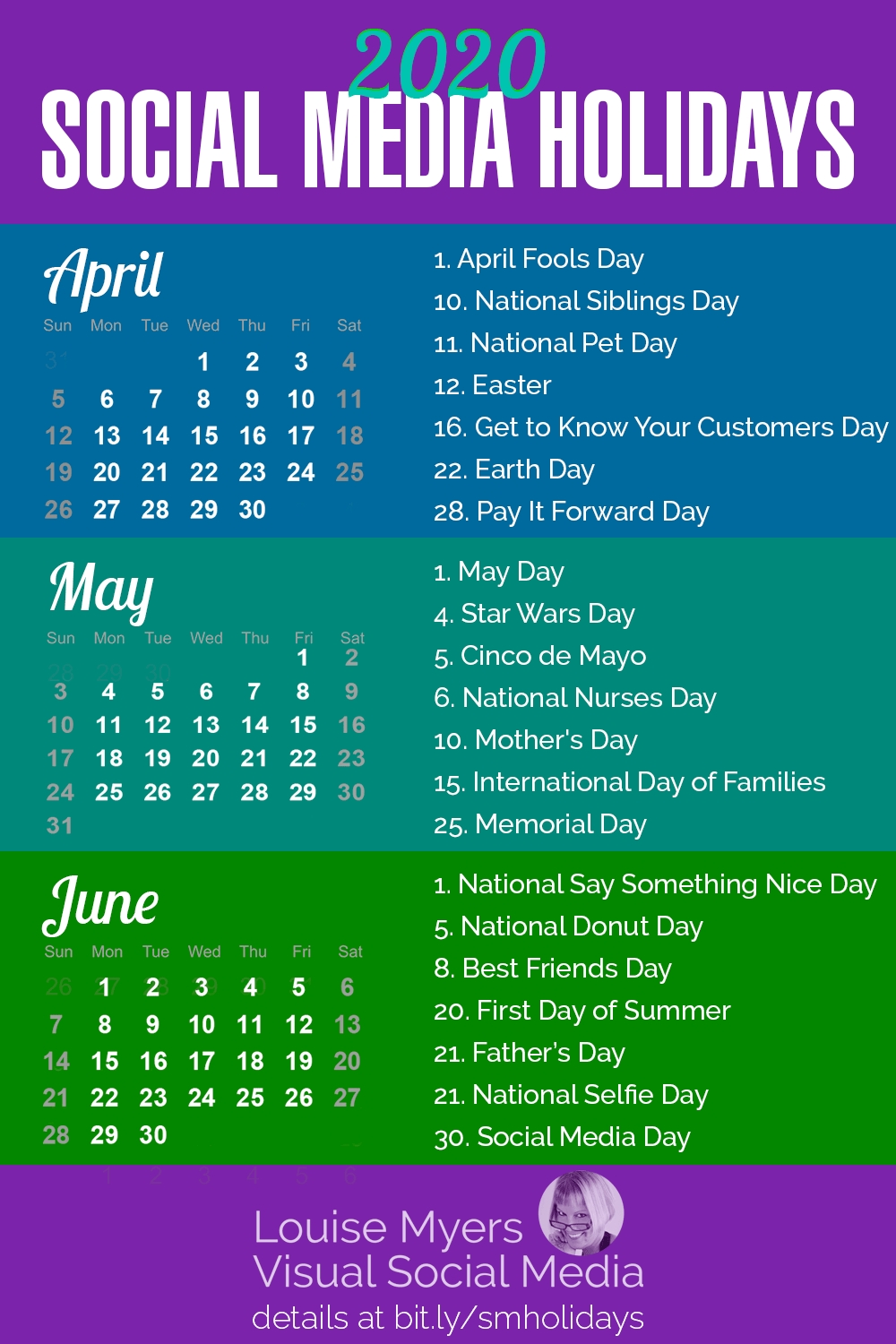 84 Social Media Holidays You Need In 2020: Indispensable! with National Day Calendar 2020 Printable List