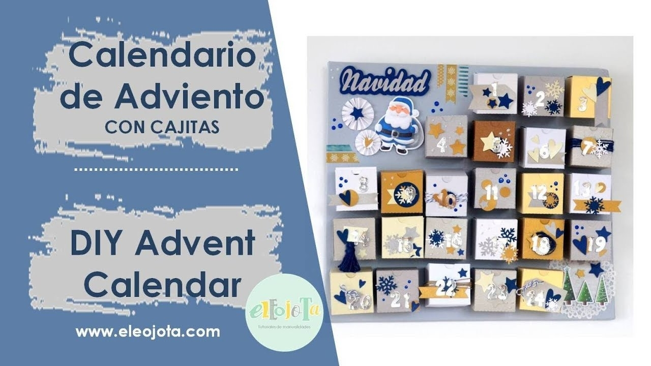 Advent Calendar Tutorial [Eng Sub] | Eleojota00 in Calendario Adviento 2019 Con Cajitas Para Regalitos