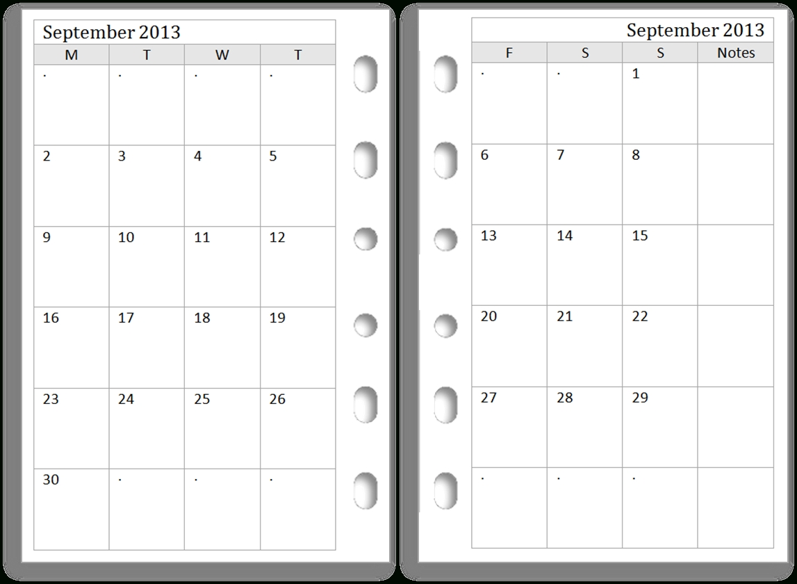 Another Request Today. This Time It Is Month Views In Pocket in Template For Pocket Sized Calendar