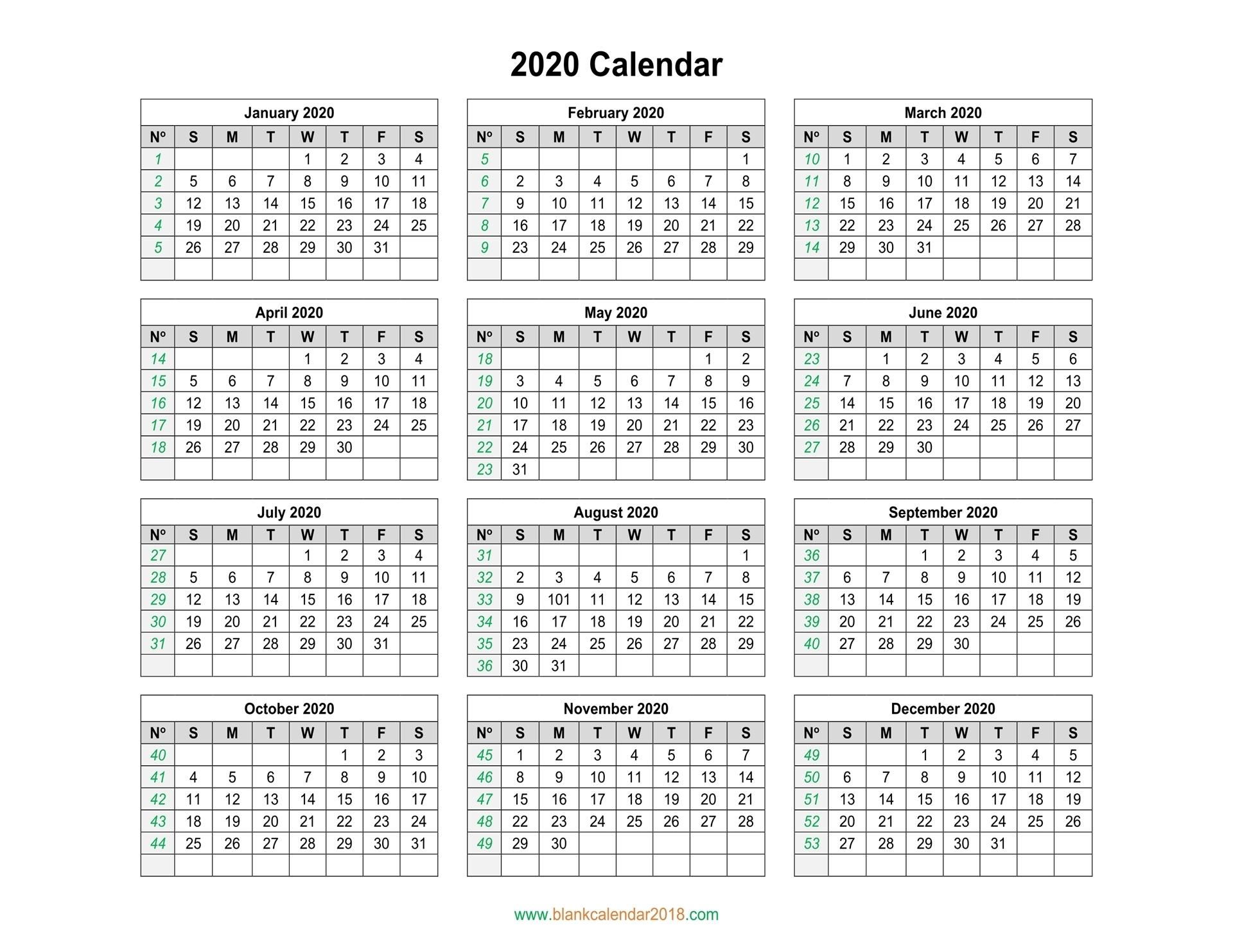 Blank Calendar 2020 regarding Blank Fill In Calendar 2020