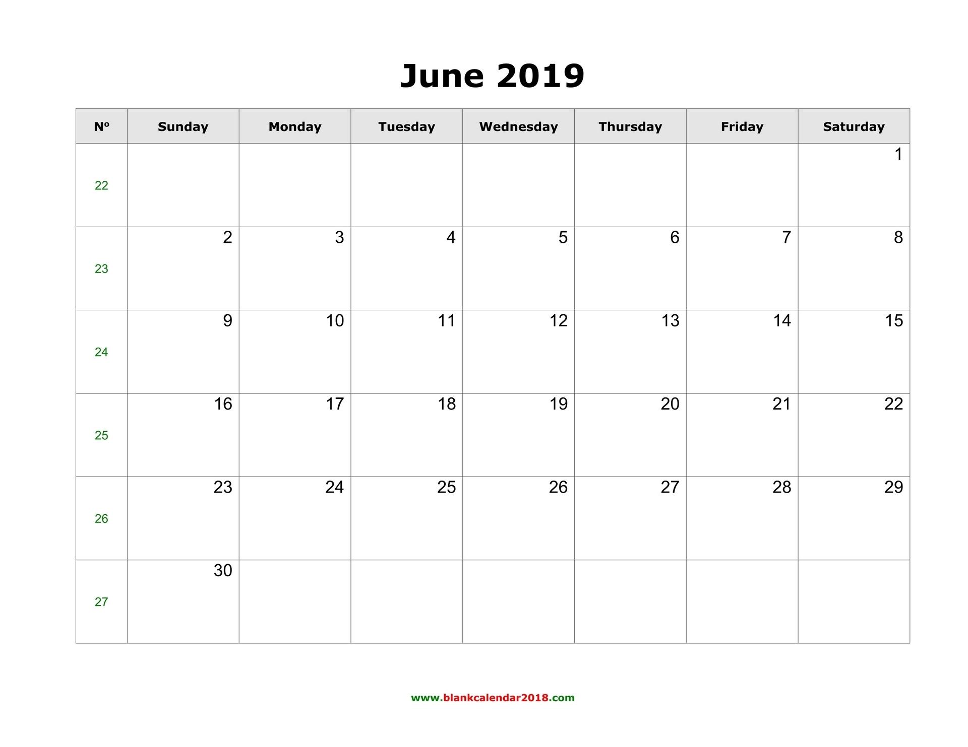 Blank Calendar For June 2019 intended for Editable Calendar July 2019-June 2020