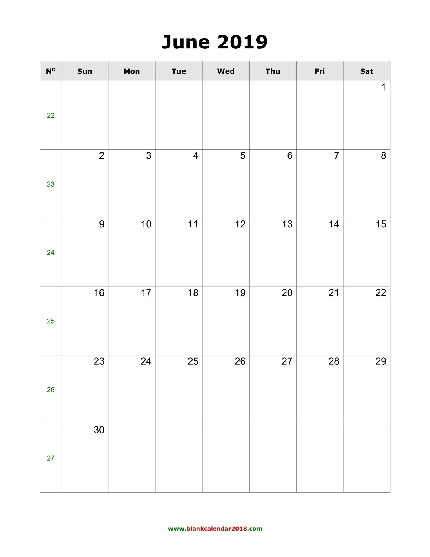Blank Calendar For June 2019 pertaining to Editable Calendar July 2019-June 2020