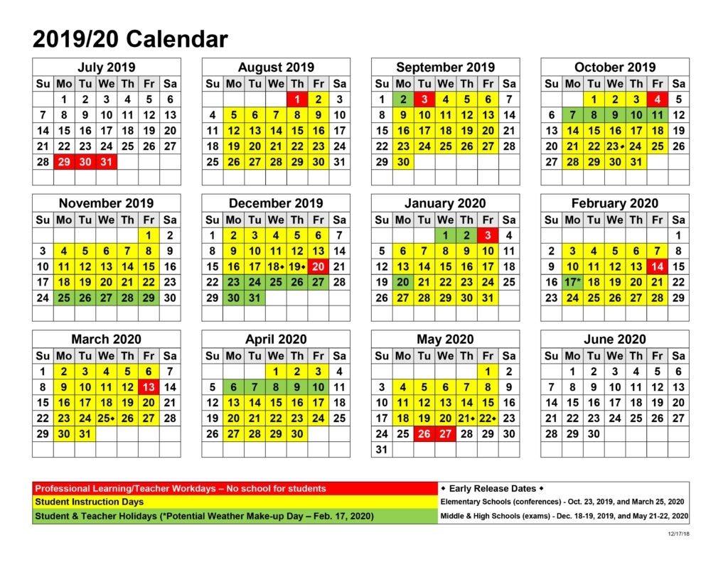 Board Approves Upcoming Calendars – East Jackson Middle School intended for Chick A Fil Calendar 2020