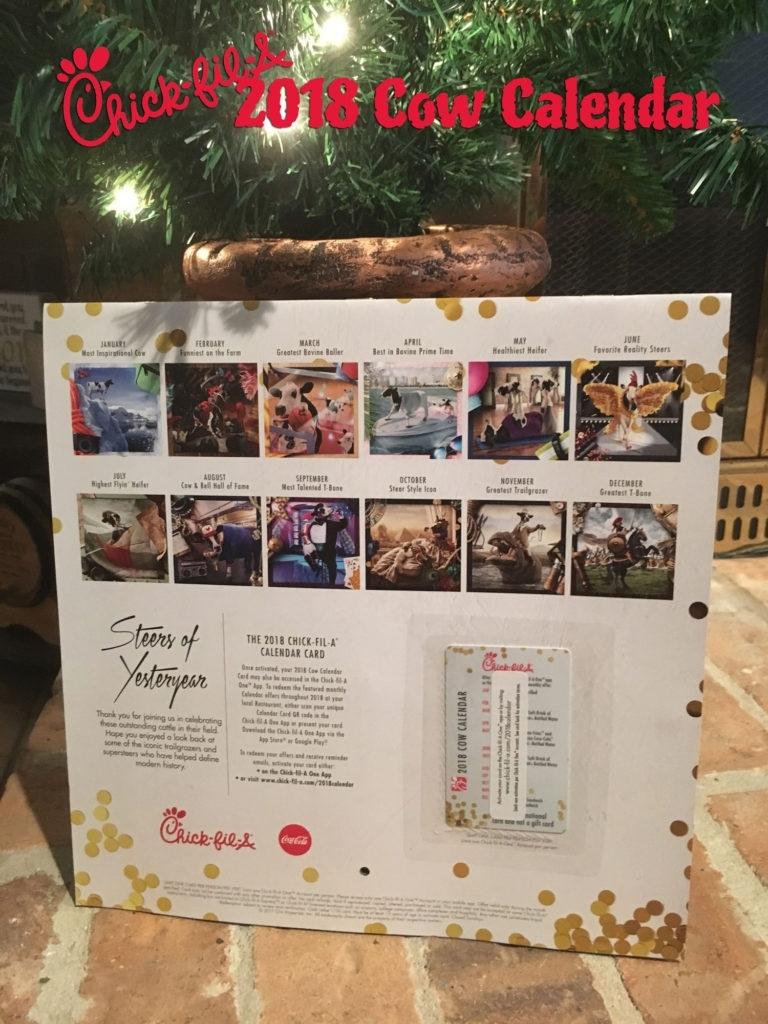 Buy A 2018 Chick-Fil-A Calendar For $9 And Save All Year! intended for Chic Fil A 2020 Calendars