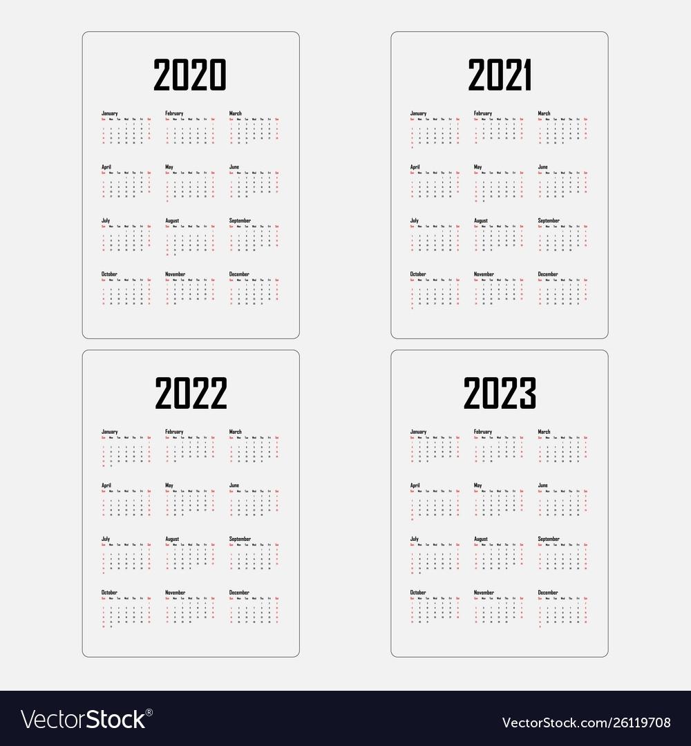 Calendar 2020 20212022 And 2023 Calendar regarding Calendar For 2020 To 2023