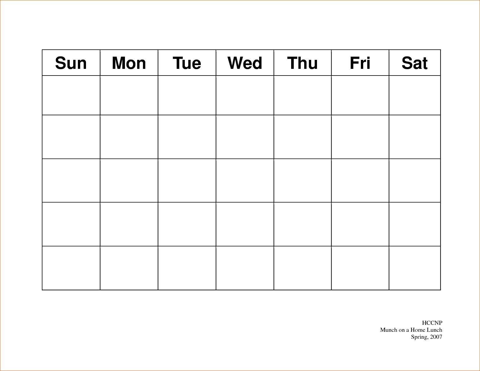 Calendar 5 Day Weekly Calendar Template On 5 Week Calendar with Day By Day And Weekly Printable Calendars