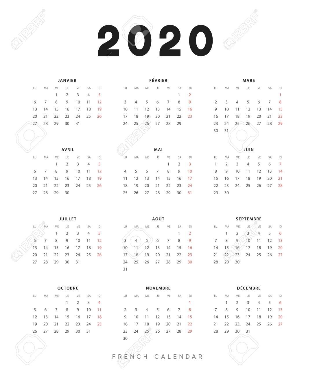 Calendar For 2020 Year. Week Starts On Monday. Planner For 12.. inside Calendar 12-Com 2020 Monday Start