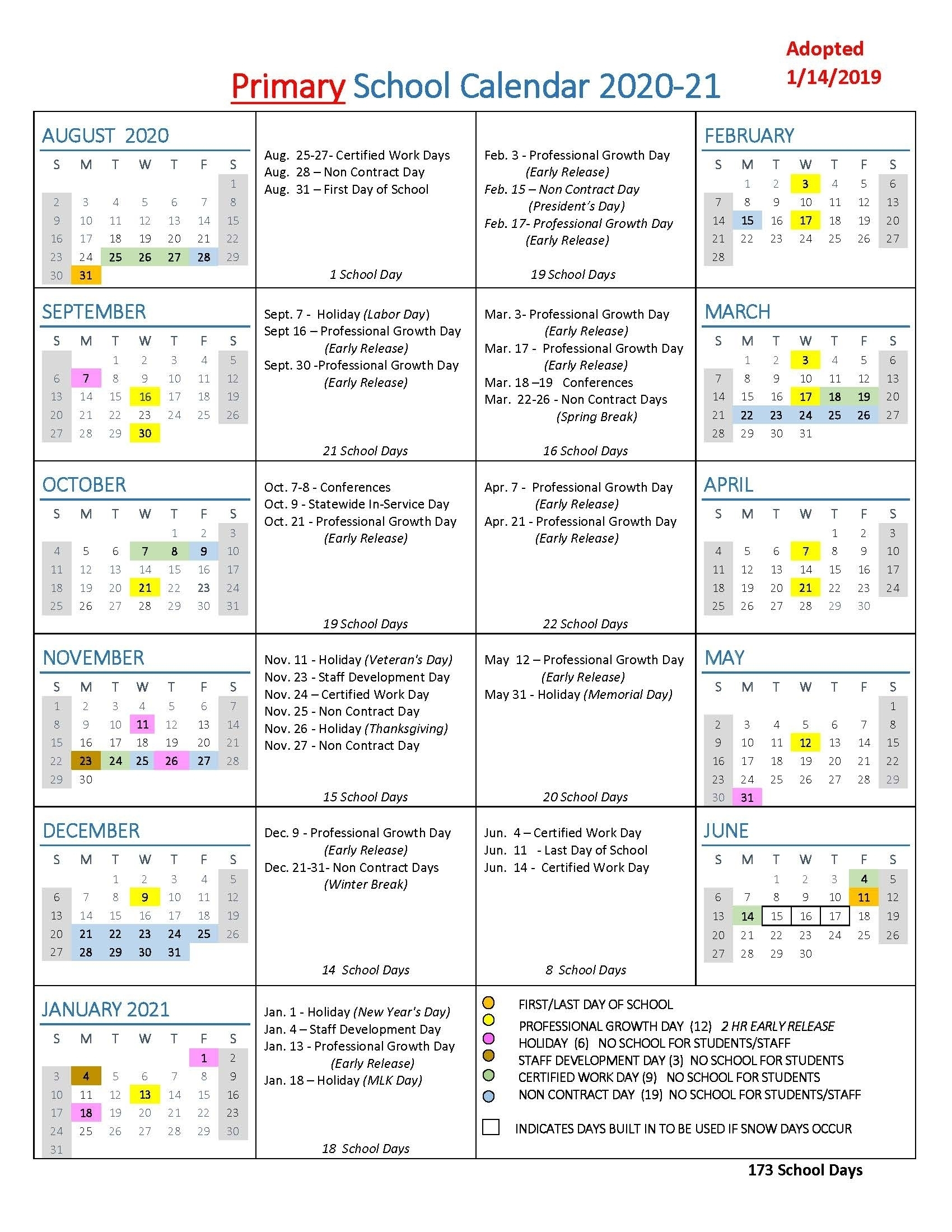Calendar With All The Special Days In 2020 - Calendar for Special Days Calendat 2019 For Schools